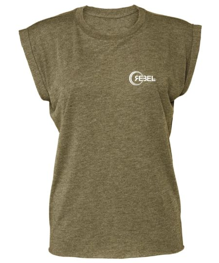 muscle tee olive